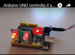 Video: Arduino UNO R3 controlla un senso unico alternato