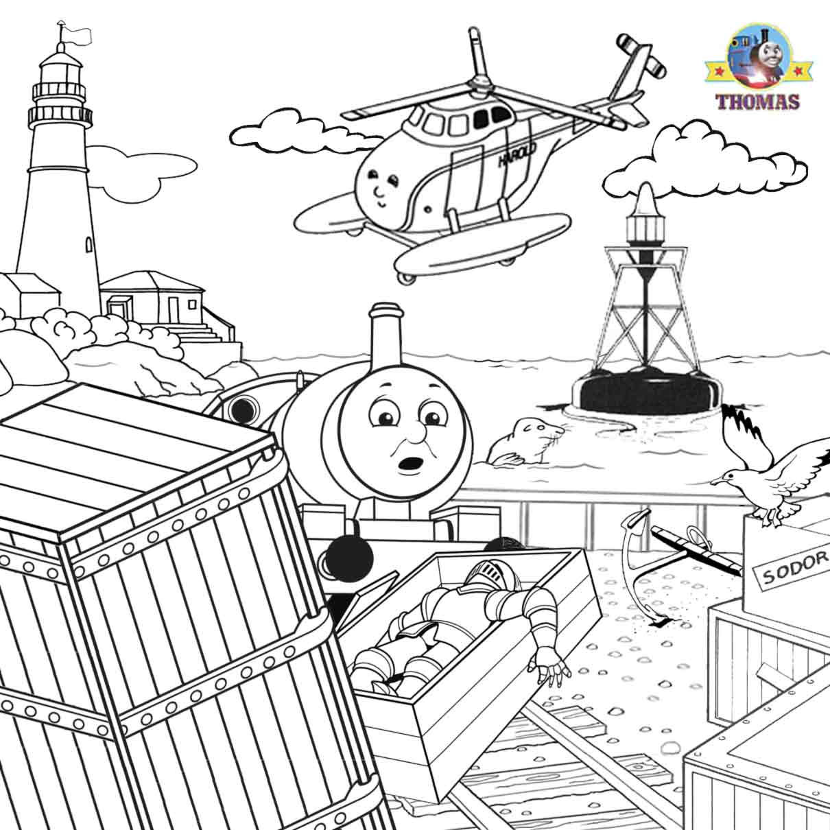 Thomas Tank Holiday Train Trip Coloring Steam Engine Journey Pictures To Color Art Drawings For Kids