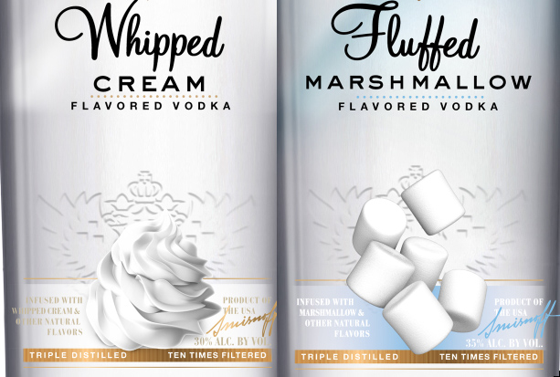 Smirnoff Whipped Cream and Marshmallow Flavored Vodkas