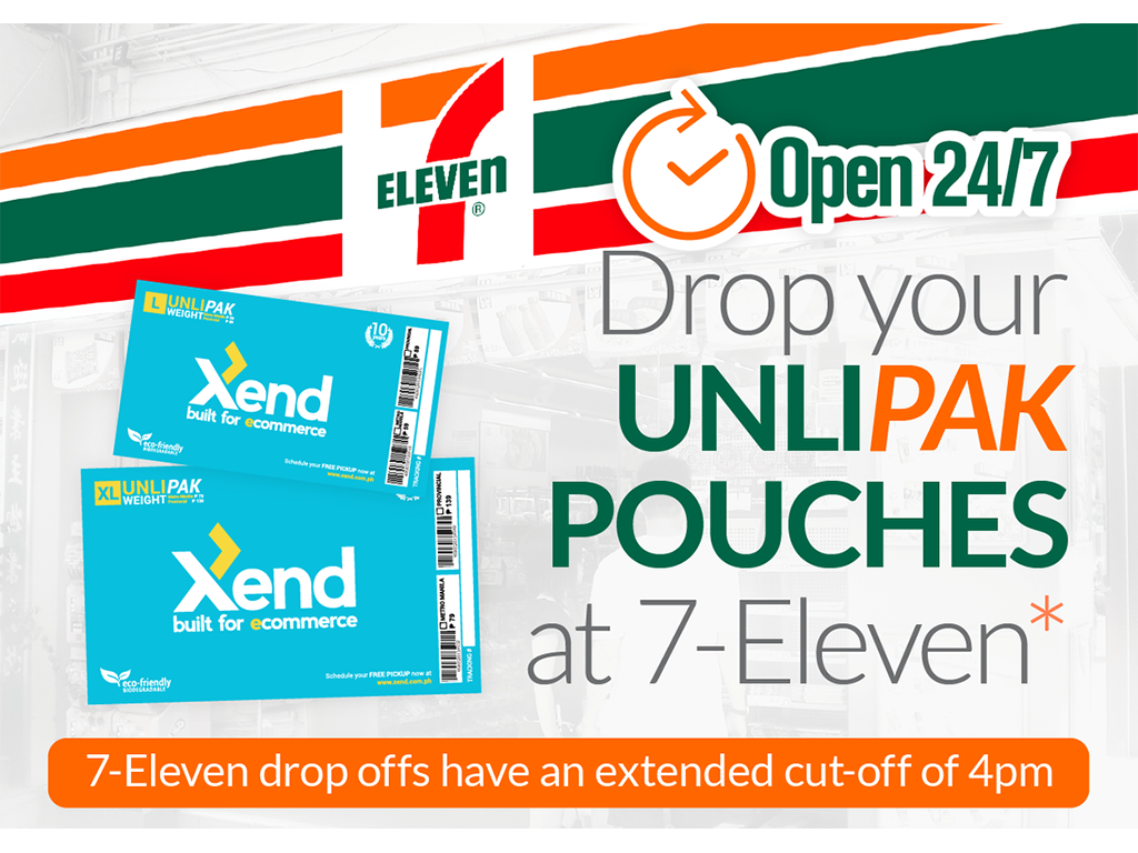 You May Now Drop Off Your Xend Pouches at Selected 7-Eleven Branches in Metro Manila!