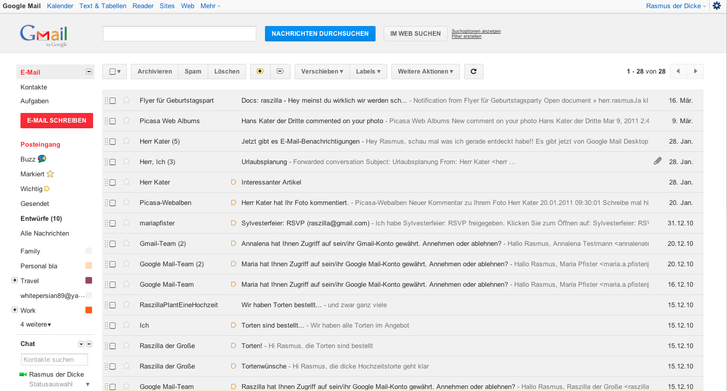 Google Mail Preview