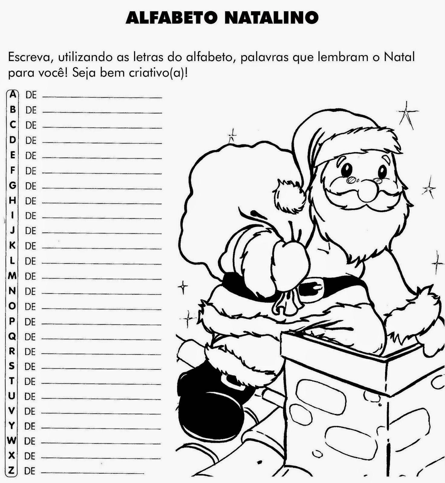 Janelinha de atividades 100 atividades de natal para for Mural sobre o natal