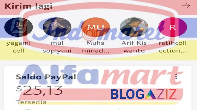 Cara Beli Saldo Paypal di Alfamart dan Indomart