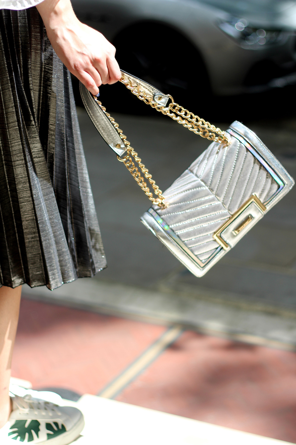 silver bag peexo blogger