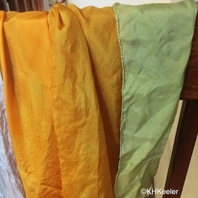 silk dyed with coreopsis