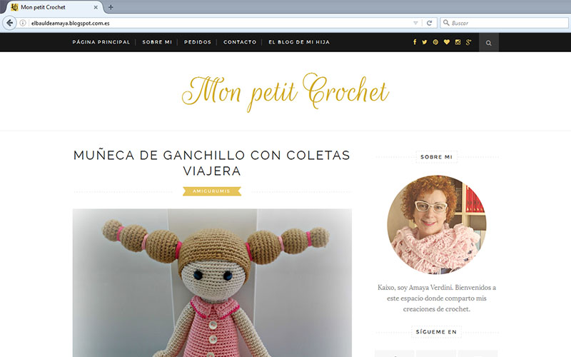 Nuevo diseño del Mon petit Crochet