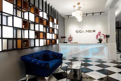 Lobby of The Connex Hotel in Bangkok, Thailand