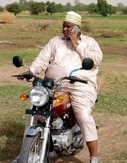 Billionaire Business Man & Airline Operator, Abdulmunafi Sarina, Spotted Riding A Motorcycle In Kano 1