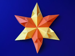 Origami modulare Stella di cuori 2 (6 punte) - Star of hearts 2 (six-pointed)by Francesco Guarnieri