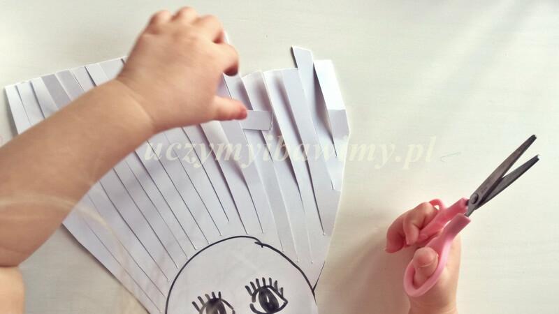 Trening - wycinanie - dziecko