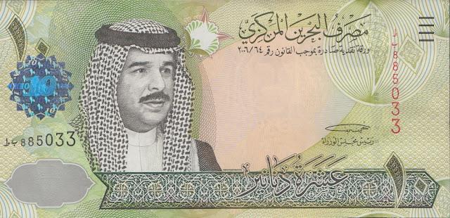 2. Dinar (BD), Bahrain