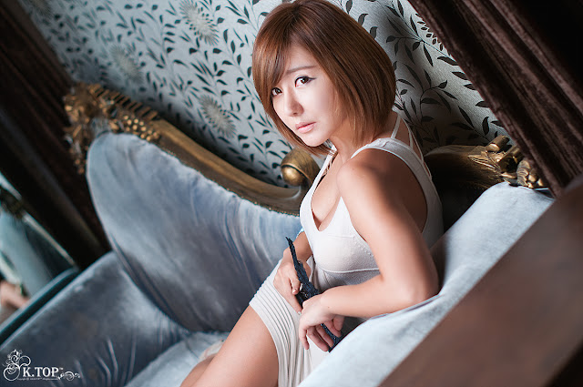 1 Ryu Ji Hye in White -Very cute asian girl - girlcute4u.blogspot.com