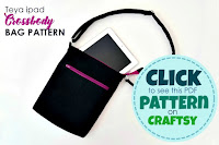 sewing pattern with instructions to sew a handbag