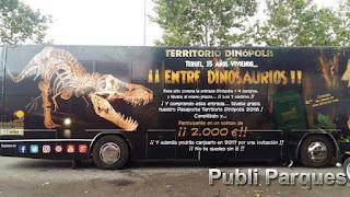 autobús promocional de Territorio Dinópolis