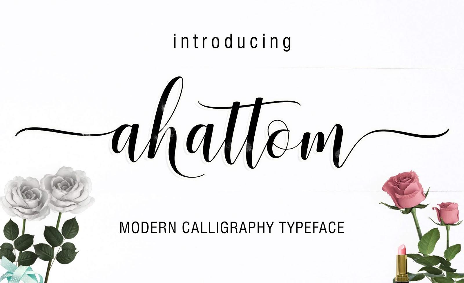 Ahattom Modern Script Font Free Download 1