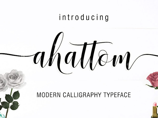 Ahattom Modern Script Font Free Download