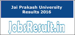 Jai Prakash University Results 2016
