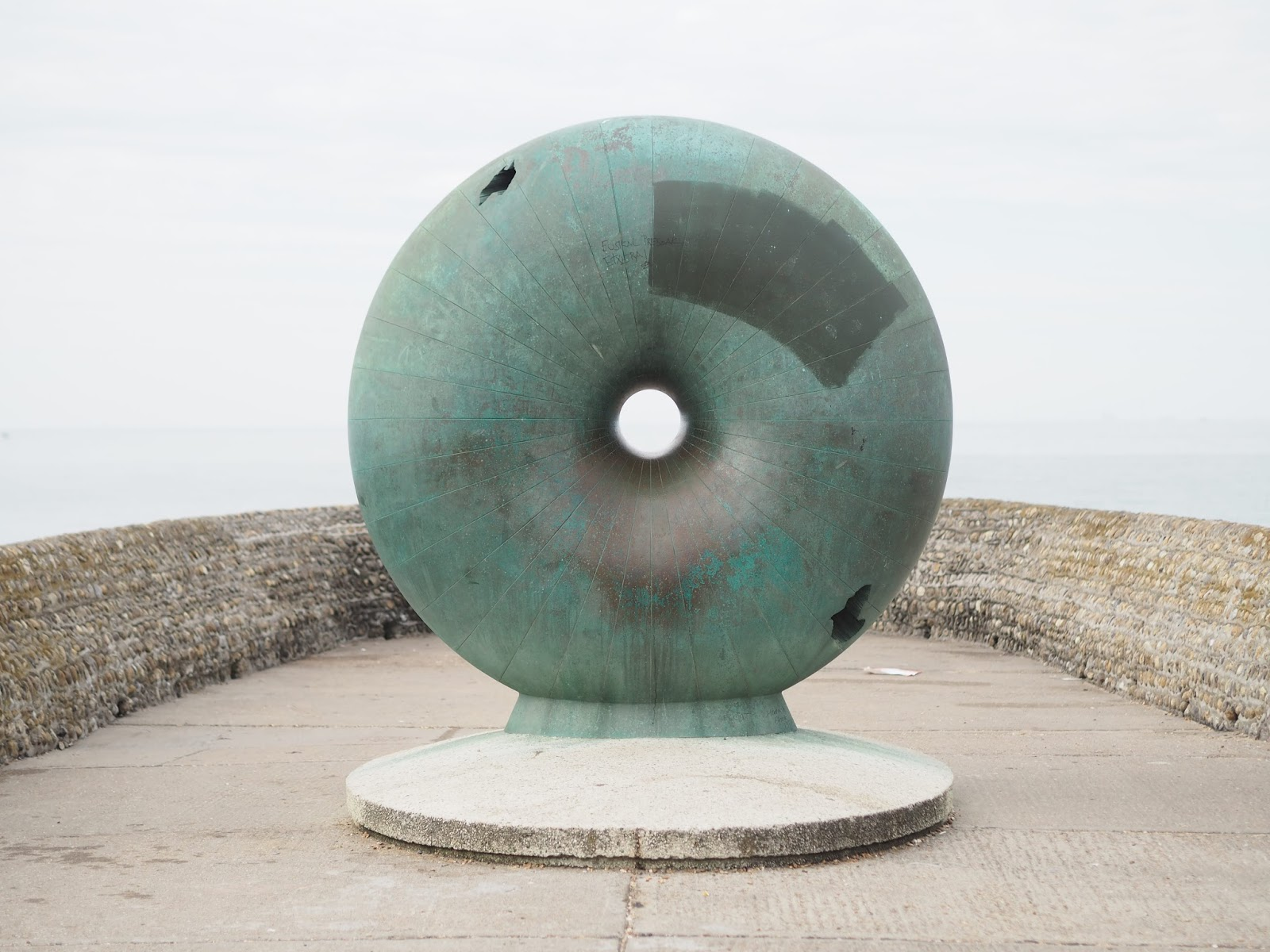 Afloat, donut sculpture, Brighton