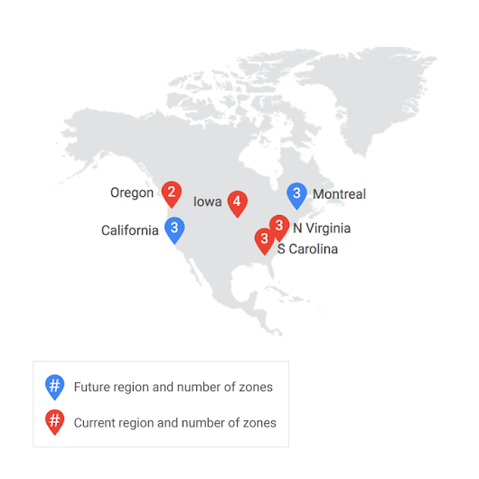 Google Cloud Platform launches Northern Virginia region