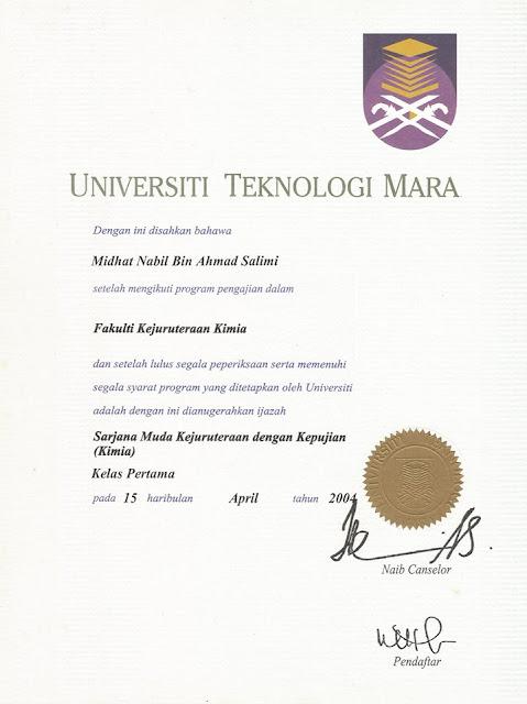 Ijazah Dr Midhat Nabil