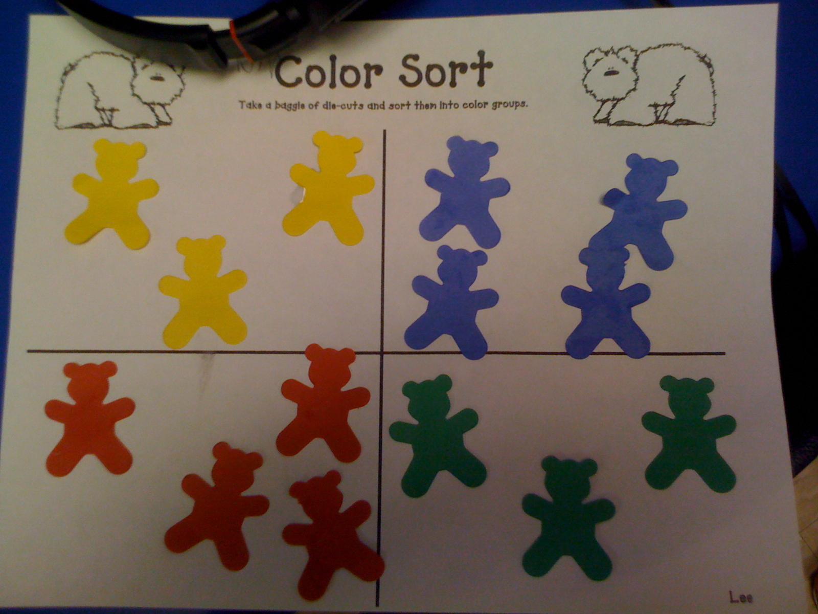 Mrs Lee S Kindergarten Color Fun And Brown Bear