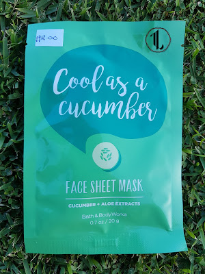 Bath and Body Works 'Cool As A Cucumber' Face Sheet Mask - www.modenmakeup.com