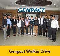 Genpact Mega Walkin Drive In Kolkata