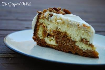 Swirled Carrot Cheesecake (The Gingered Whisk)