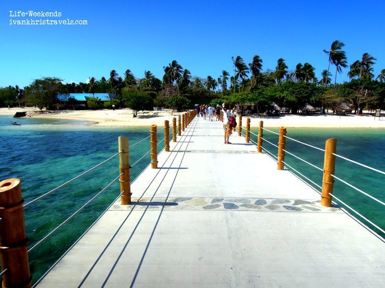 Arriving at the wharf of Dos Palmas Island Resort and Spa