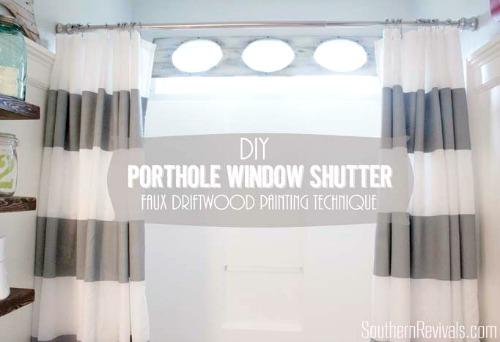 DIY Porthole Window Shutter