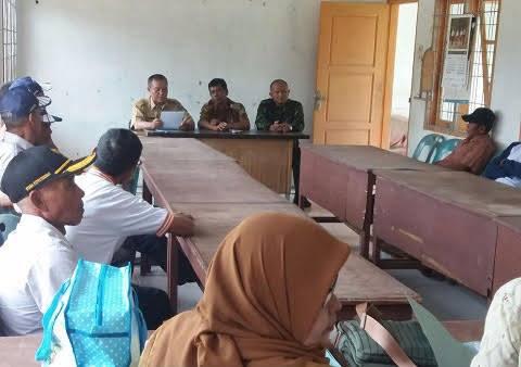 Danramil 05/Salapian Rapat Koordinasi di kantor UPTD  Langkat
