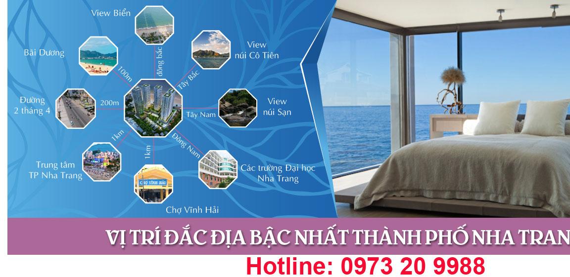Vị trí đắc địa chung cư Viễn Triều Nha Trang