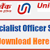 Union Bank Specialist Officer Syllabus PDF Download