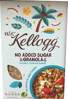 Kellogg's No added sugar granola coconut cashew almond