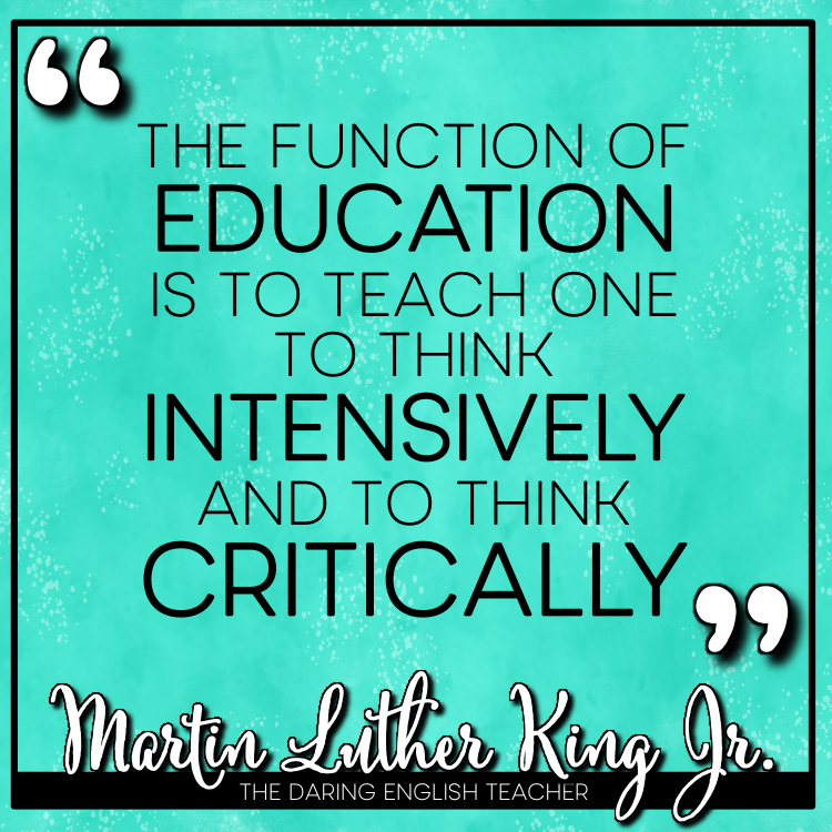 5 Inspirational Quotes About Education From Dr Martin Luther King