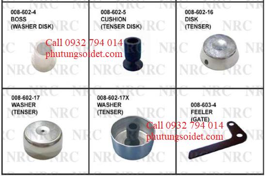 Cushion (Tenser disk) 008-602-5 Disk (Tenser) 008-602-16 Washer (Tenser) 008-602-17 Washer (Tenser) 008-602-17X Feeler (Gate) 008-602-4 Spring (Cutter) 008-603-5
