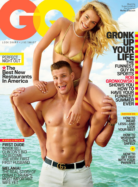 Fashion Model, @ Hailey Clauson & Ron Gronkowski for GQ US, June 2016