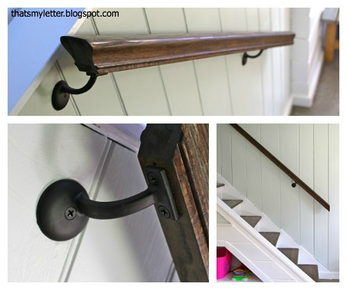 refinished stained railing