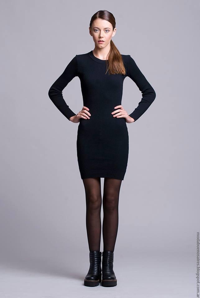 Vestidos invierno 2016 ropa de mujer. Moda invierno 2016 Dominga Dominó.