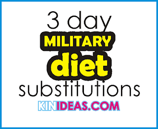 What is 3 Day Military Diet Substitutions?