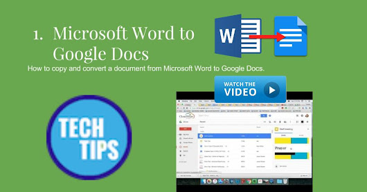 How to copy and convert a document from Microsoft Word to Google Docs.         |          ST MARY'S NS