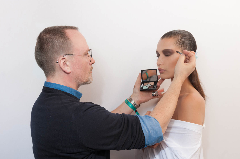 bella hadid dior makeup fashion show backstage