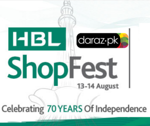 Mega 70% Off Discount Sale at Daraz.pk with HBL Collaboration on Independence Day