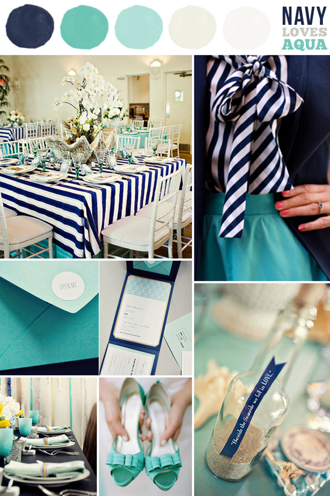 Spring / Summer Wedding Colors - Navy - Belle The Magazine