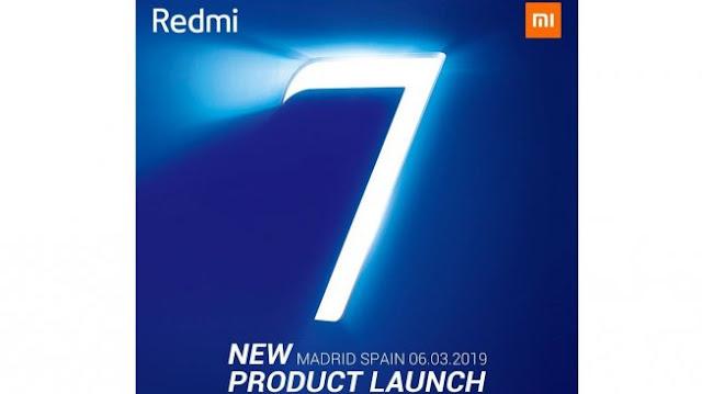 Smartphone Redmi 7 Akan Diluncurkan Tanggal 18 Maret Di China