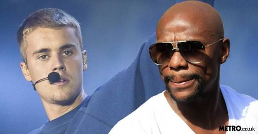 Mayweather  with Justin Bieber