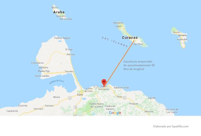 Pdvsa otorga contrato de ingeniería para llevar gas de Cumarebo a la refinería Isla en Curacao