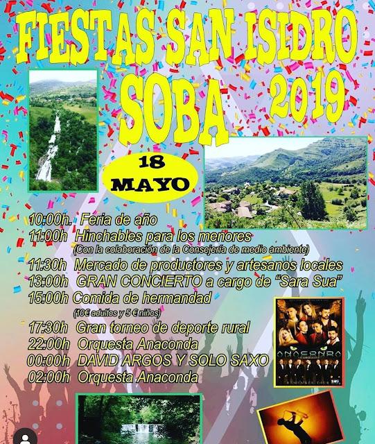 Fiestas de San Isidro en Soba 2019