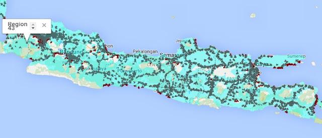 Jangkauan Sinyal Smartfren 4G LTE dan EVDO REV B Jawa (Banten, DKI Jakarta, Jawa Barat, Jawa Tengah, Jawa Timur, Madura)