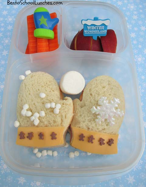 Winter Mittens bento lunch
